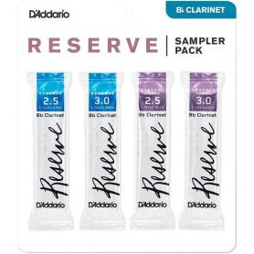 D`ADDARIO Reserve Reed Sampler Pack Filed - Bb Clarinet 2.5/3.0 Трости для духовых фото