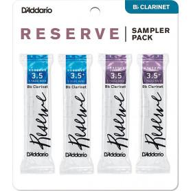 D`ADDARIO Reserve Reed Sampler Pack Filed - Bb Clarinet 3.5/3.5+ Трости для духовых фото