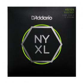 D`ADDARIO NYXL45125 LT TOP/MED BTM 5 STRING 45-125 Струны для бас-гитары фото