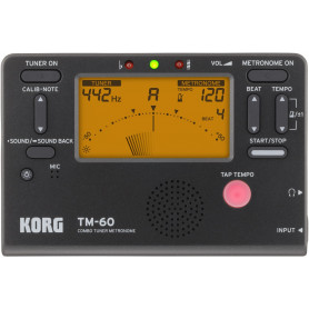 KORG TM-60-BK Тюнер-метроном фото