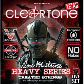 CLEARTONE 49420 DAVE MUSTAINE LIVE SET 10-52 Струны для электрогитары с защитным покрытием фото