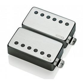 "EMG JH \\""HET\\"" SET (Brushed Chrome) набор звукоснимателей для гитары James Hetfield Signature фото"