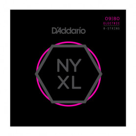 D`ADDARIO NYXL0980 NYXL SUPER LIGHT 8-STRING 09-80 Струны для 8-струнной электрогитары фото