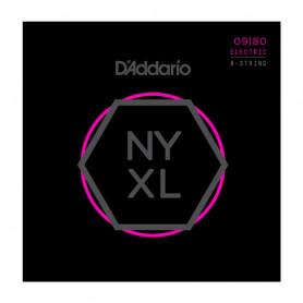 D`ADDARIO NYXL0980 NYXL SUPER LIGHT 8-STRING 09-80 Струны для 8-струнной электрогитары фото