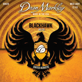 DEAN MARKLEY 8020 BLACKHAWK ACOUSTIC 80/20 BRONZE ML (12-53) Струны для гитары фото