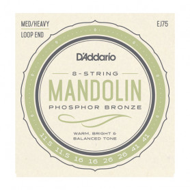 D`ADDARIO EJ75 Mandolin Phosphor Bronze Medium/Heavy 11.5-41 Струны для мандолины фото