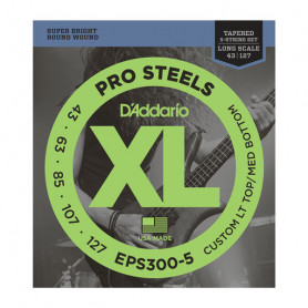 D`ADDARIO EPS300-5 ProSteels, Custom LT Top / MD Bottom