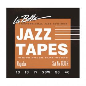 Стр. для ел. гіт. La Bella 600L (12-56 White Nylon Tape Wound)