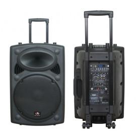 HL AUDIO USK12A BT/USB Акустическая система мобильная с радиомикрофнами и медиаплеером фото