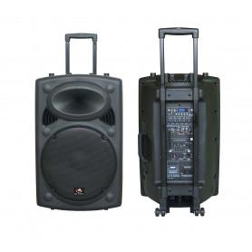 HL AUDIO USK15A BT/USB Акустическая система мобильная с радиомикрофнами и медиаплеером фото