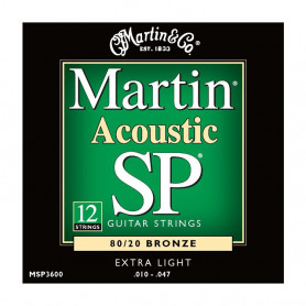 Струни MARTIN MSP3600 (10-47 SP 12-strings) фото