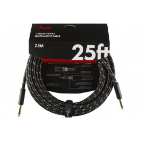 FENDER CABLE DELUXE SERIES 25' BLACK TWEED Кабель