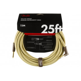 FENDER CABLE DELUXE SERIES 25' ANGLED TWEED Кабель