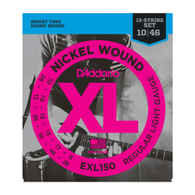 D`ADDARIO EXL150 Nickel Wound, 12-String, Regular Light, 10-46