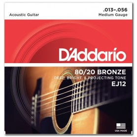 D`ADDARIO EJ12 80/20 BRONZE MEDIUM 13-56 Струны