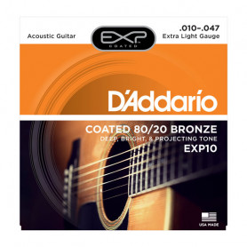 D`ADDARIO EXP10 EXP 80/20 BRONZE EXTRA LIGHT 10-47 Струны