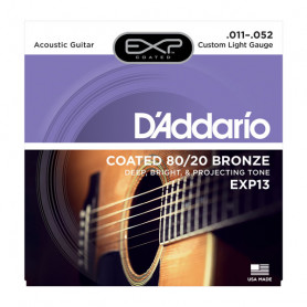 D`ADDARIO EXP13 EXP 80/20 BRONZE CUSTOM LIGHT 11-52 Струны