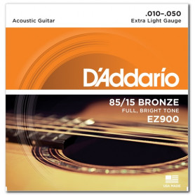 D`ADDARIO EZ900 BRONZE EXTRA LIGHT 10-50 Струны