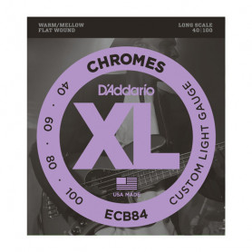 D`ADDARIO ECB84 XL CHROMES FLATWOUND BASS 40-100 Струны