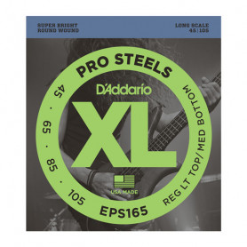 D`ADDARIO EPS165 XL PRO STEELS REG LIGHT TOP / MED BOTTOM 45-105 Струны