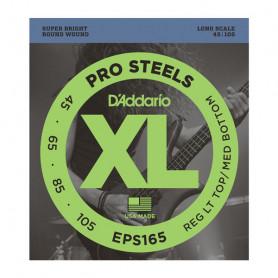 D`ADDARIO EPS165 XL PRO STEELS REG LIGHT TOP / MED BOTTOM 45-105 Струны