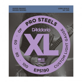 D`ADDARIO EPS190 XL PRO STEELS CUSTOM LIGHT 40-100 Струны