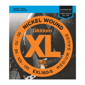D`ADDARIO EXL160-5 XL MEDIUM 5 STRING 50-135 Струны