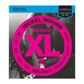 D`ADDARIO EXL170-5 XL REGULAR LIGHT 5 STRING 45-130 Струны фото