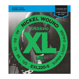 D`ADDARIO EXL220-5 XL SUPER LIGHT 5 STRING 40-125 Струны фото