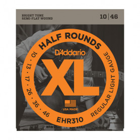 D`ADDARIO EHR310 XL HALF ROUNDS REGULAR LIGHT 10-46 Струны