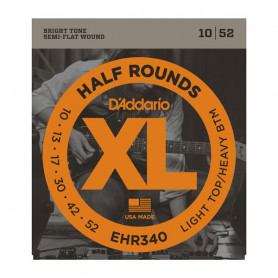 D`ADDARIO EHR340 XL HALF ROUNDS LIGHT TOP/ HEAVY BOTTOM 10-52 Струны