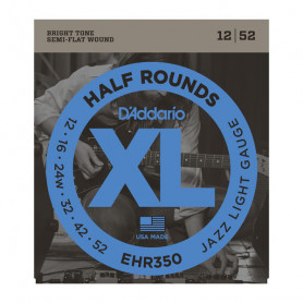 D`ADDARIO EHR350 XL HALF ROUNDS JAZZ LIGHT 12-52 Струны