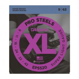 D`ADDARIO EPS520 XL PRO STEELS SUPER LIGHT 09-42 Струны
