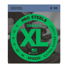 D`ADDARIO EPS530 XL PRO STEELS EXTRA SUPER LIGHT 08-38 Струны