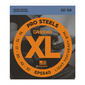 D`ADDARIO EPS540 XL PRO STEELS LIGHT TOP / HEAVY BOTTOM 10-52 Струны