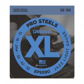 D`ADDARIO EPS590 XL PRO STEELS JAZZ LIGHT 12-52 Струны