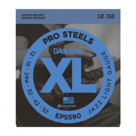 D`ADDARIO EPS590 XL PRO STEELS JAZZ LIGHT 12-52 Струны