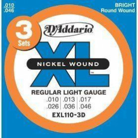 D`ADDARIO EXL110-3D XL REGULAR LIGHT (3 SET) Струны