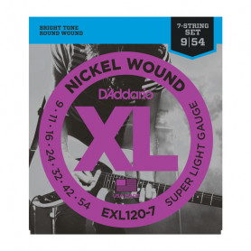 D`ADDARIO EXL120-7 XL SUPER LIGHT 7-STRING (09-54) Струны