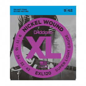 D`ADDARIO EXL120 XL SUPER LIGHT (09-42) Струны