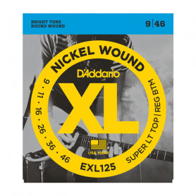D`ADDARIO EXL125 XL SUPER TOP / REGULAR BOTTOM (09-46) Струны