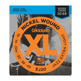 D`ADDARIO EJ20 XL JAZZ EXTRA LIGHT 10-49 Струны