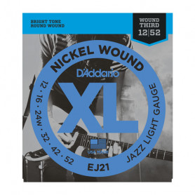 D`ADDARIO EJ21 XL JAZZ LIGHT 12-52 Струны
