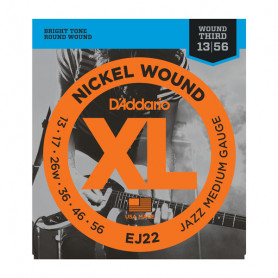 D`ADDARIO EJ22 XL JAZZ MEDIUM 13-56 Струны