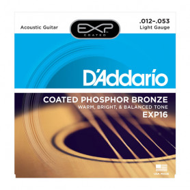 D`ADDARIO EXP16 EXP PHOSPHOR BRONZE LIGHT 12-53 Струны