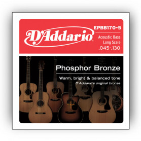 D`ADDARIO EPBB170-5 ACOUSTIC BASS PHOSPHOR BRONZE 5 STRING Струны