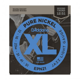 D`ADDARIO EPN21 XL PURE NICKEL JAZZ LIGHT 12-51 Струны
