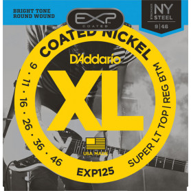 D`ADDARIO EXP125 EXP COATED SUPER LIGHT TOP / REGULAR BOTTOM (09-46) Струны