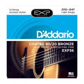 D`ADDARIO EXP36 EXP 80/20 BRONZE LIGHT 12-STRING 10-47 Струны