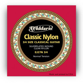 D`ADDARIO EJ27N 3/4 STUDENT CLASSICS NORMAL TENSION 3/4 Струны